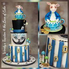 Alice in wonderland cake Aniversary Cakes, Alice In Wonderland Cakes, Cooking, Disney, Desserts, Food, Kitchen, Tailgate Desserts, Deserts