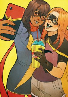 Kamala and Charlie - Selfies and Slushies! - commission from Astro