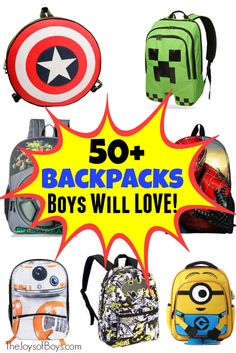 50 Backpacks for Boys - The Joys of Boys 96e92f596d09d