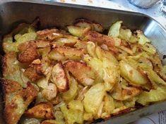 Patatas asadas al horno con parmesano