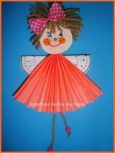 Or add arms instead of wings for a cute girl Diy Arts And Crafts, Creative Crafts, Easy Crafts, Paper Crafts, Valentine Crafts, Christmas Crafts, Diy For Kids, Crafts For Kids, Angel Crafts