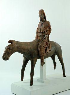 Anonyme Künstler (0): Christus auf dem Esel, 1350, Augustinermuseum Freiburg