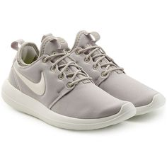 Nike Roshe Two Sneakers ($87) ❤ liked on Polyvore featuring shoes, sneakers, grey, grey sneakers, grey shoes, nike, nike trainers and nike sneakers