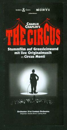 CHARLIE CHAPLIN - THE CIRCUS - IM CIRKUS MONTI 2005 - ORIGINAL FLYER