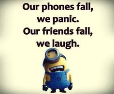 Funniest Minion Quotes Of The Week Best new funny Despicable Me minions quotes 008 Funny Minion Memes, Minions Quotes, Funny Jokes, Minion Humor, Minion Sayings, Funny Insults, Funny Laugh, Minions Love, My Minion