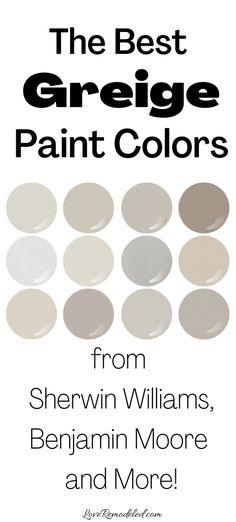 Best Greige Paint Color, Taupe Paint Colors, Light Paint Colors, Farmhouse Paint Colors, Interior Paint Colors, Interior Design, Warm Grey Paint, Kelly Moore Paint Colors Interiors, Interior Paint Palettes