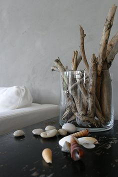 One way to use the driftwood we have leftover from the wedding