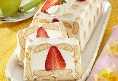 Diplomat cu căpşuni | Click! Pofta Buna! Sliders, Vanilla Cake, Biscuit, Food And Drink, Desserts, Tailgate Desserts, Deserts, Postres, Crackers