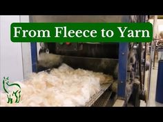 From Fleece to Yarn ~ Tour of a Fiber Mill - YouTube