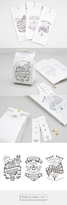 Birthday #packaging via KNOOP curated by Packaging Diva PD. So simple anybody could do this clever idea
