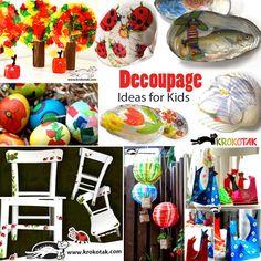 Decoupage ideas for kids