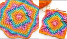 Elements Cal Square for Blankets, Pillows, Centrepieces - Free Crochet Pattern en Video Tutorial | Je haak