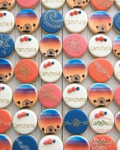 These were so fun. The sunset cookie was inspired by Coachella Party Decorations, Coachella Party Theme, Coachella Birthday, Festival Themed Party, 18th Birthday Party, Sweet 16 Birthday, 1st Birthday Girls, Birthday Cookies, Birthday Ideas