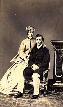 Princess Dagmar and her ill-fated fiance Tsarevich Nicholas. She was betrothed to Dagmar, he became ill from meningitis and died in 1865. His last wish was for her to marry his younger brother, the future Alexander III. In June 1866, while on a visit to Copenhagen, the Tsarevich Alexander asked Dagmar for her hand. They married on 9 November 1866.