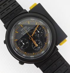 Seiko Vintage Sports 100 Quartz Chronograph PVD Giugiaro Ripley Alein in Jewelry & Watches, Watches, Parts & Accessories, Wristwatches Amazing Watches, Beautiful Watches, Cool Watches, Watches For Men, Dream Watches, Tag Heuer, Vintage Seiko Watches, Timex Watches, The 100