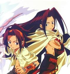 Yoh and Hao/Zeke (brothers)   brother of Yoh is third reincarnation of real Asakura Hao