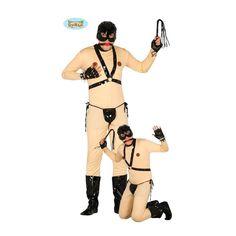 Ce déguisement de sado-maso comprend une combinaison intégrale, un baîllon, un…
