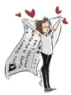 So much larry One Direction Fotos, One Direction Fan Art, One Direction Cartoons, One Direction Pictures, Direction Quotes, Larry Stylinson, Fanart, Desenho Harry Styles, Harry Styles Drawing