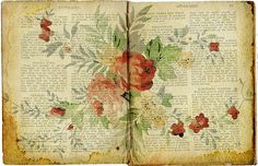 paint on old books
