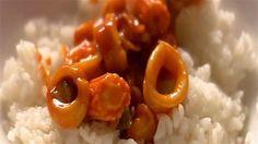 Korean Calamari with Sushi Rice - Fantastic http://www.lifestylefood.com.au/recipes/14667/korean-calamari