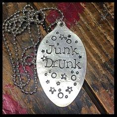 Custom order- stamped silver spoon pendant necklace- Julie's Junktique (Etsy.com)