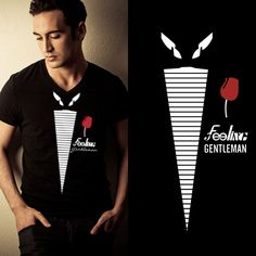 Camisa T-shirt Masculina Gentleman