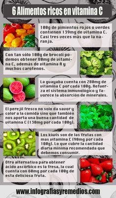 #Alimentos ricos en #vitamina C