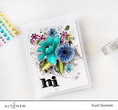 Altenew Garden Treasure Stamp Set watercolored by @pr0digy0