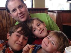 With his boys, Jackson, Chandler, and Peyton. on Father's Day June 16, 2013