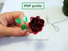 Wire flowers with nail polish