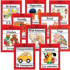 Bilingual Concepts Books (Set of 10)