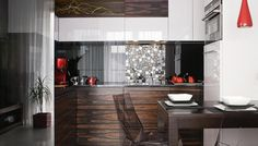 Ładna kuchnia - zdjęcia kuchni i inspiracje Best Kitchen Designs, Cool Kitchens, Divider, Room, Furniture, Home Decor, Drawing Rooms, Home Furnishings, Interior Design