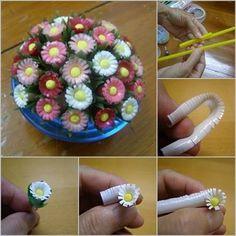 Pipetten Çiçek Yapımı