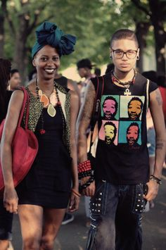 ♡ Afro Punk Fashion, Rebel Fashion, Girl Fashion, Black Hippy, Black Hipster, African Inspired Fashion, Africa Fashion, Guys And Girls, Black Girls