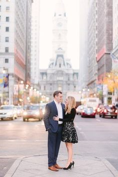 A Fall Engagement Shoot in Philadelphia Fall Engagement Shoots, City Engagement Photos, Engagement Photo Outfits, Engagement Couple, Engagement Photography, Fall City, Save The Date Photos, Picture Outfits, Photoshoot Inspiration