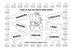Fichas piratas Pirates, Google, Mariana, Dresses, Aphasia Therapy, Pirate Preschool, Positive Reinforcement, Social Studies, Preschool Writing