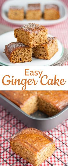 Easy Ginger Cake Recipe (One Step, Vegan)