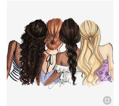 Drawing of girls friends bff 38 Ideas Girly M, Best Friend Drawings, Girly Drawings, Best Friend Sketches, Bff Pictures, Best Friend Pictures, Friend Pics, Cute Girl Drawing, Watercolor Fashion