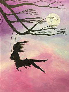 Fashion and Lifestyle Dark Art Drawings, Beautiful Drawings, Art Drawings Sketches, Painting Wallpaper, Painting & Drawing, Silhouette Painting, Mini Canvas Art, Fantasy Kunst, Creative Artwork