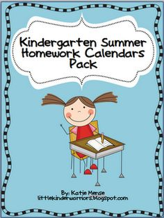 Summer Homework Calendars Pack