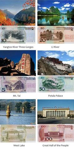 ♥ attractions in chinese paper money