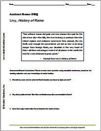 Worksheets Free World History Worksheets pinterest the worlds catalog of ideas livys history rome printable dbq worksheet free to print pdf file