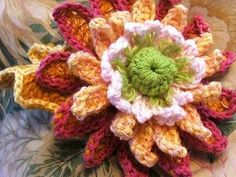 fall crochet mum pattern