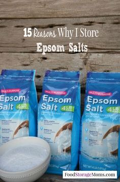 Epsom Salts - Treats gout, toenail fungus, sprains, athlete foot, sunburn, it's also a garden fertilizer, a natural insecticide, plus more...
