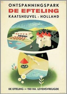Old Efteling ad Vintage Advertising Posters, Old Advertisements, Advertising Signs, Vintage Travel Posters, Vintage Labels, Vintage Ephemera, Vintage Ads, Art Deco Posters, Visual Communication