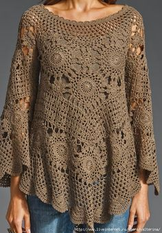 Irish crochet &: Very impressive tunic motives