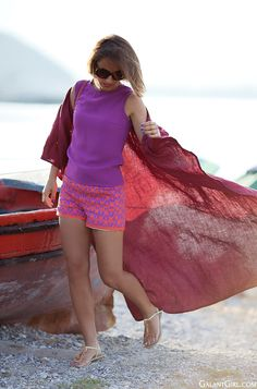 kimono cardigan look | vacation look | summer outfit | anthropology shorts |
