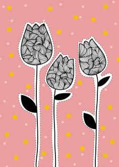 tulips_illustration_color_pink_illustration_drawing.jpg 595×842 pixels