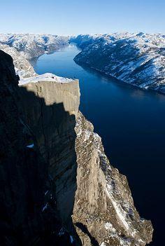 Pulpit Rock (Preikestolen Cliff) ~ Stavanger, Norway