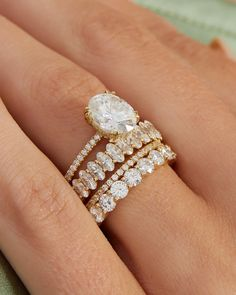 Oval Halo Ring, Oval Solitaire Engagement Ring, Engagement Rings For Men, Pave Wedding Bands, Wedding Ring Styles, Oval Wedding Rings, Diamond Bands, Diamond Cuts, Diamond Shapes